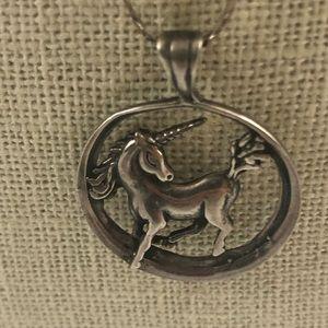 Unicorn pendant necklace sterling silver sassy